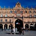 Plaza Mayor in Salamanca, wo ich vor ca. 20 Jahren für 4 Monate in einer Sparachschule war