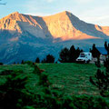 Morgenstimmung beim Refugio de Marradetas (Pyrenäen)