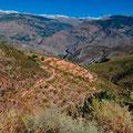 Blick zurück Richtung Granada und die Sierra Nevada