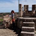 """Auf der Wehrmauer des """"Castillo de Peñafiel"""""""
