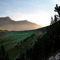 Morgenstimmung über den Bergen in den Pyrenäen