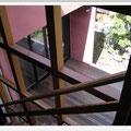 階段ホール→外部テラス