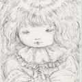 「星の祈り」鉛筆/水彩紙14.8×10cm