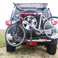 """Bike Rack Inserted Into The 1-1/4"""" Accessory Hole - Skid Plate V2"""