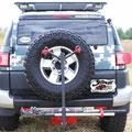 Bike Rack & Hi-Lift Jack Mounted - Skid Plate V2