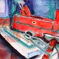 Werkzeug, 2009, 29,7 x 42cm, Aquarell und Ölkreide