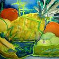 Vitaminschock, 2015, 36 x 48cm, Aquarell-Ölkreide