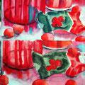 Doppeltes Tomatenmark, 2003, 48 x 56cm, Aquarell
