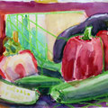 In die Suppe! Aquarell-Mischtechnik 2015 24 x 32cm
