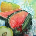 """bloody melon"", 2013, 36x48 cm, Aquarell"