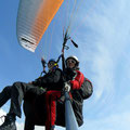 Auf dem Flug von der Gleckstein Hütte nach Grindelwald