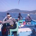 完全ふかせ釣り福井玄達釣り船遊漁船龍神丸 大艫で3人完全ふかせ釣り