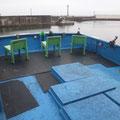完全ふかせ釣り福井玄達釣り船遊漁船龍神丸 広々後部デッキで完全ふかせ釣り