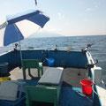 完全ふかせ釣り福井玄達釣り船遊漁船龍神丸 晴雨両用のビーチパラソル(玄達瀬遊漁必需品)