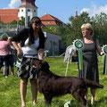 Jamie und Ich mit unserer Richterin Lena Hägglund