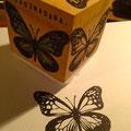 アサギマダラの蝶々はんこ