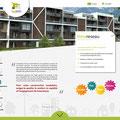 Maquette web pour la première page du site internet de la société Innoréseau