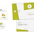 Différentes recherches de logo + plaquette pour une société de vente immoblière