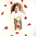 The Little flower,collage 43x61 cm