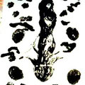 Black Bud,40 x 60 cm  xylography + new technique