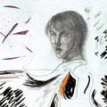 Silence,mixmedia 35x28,5 cm