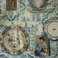 Tissu porcelaine (coton doux imprimé)