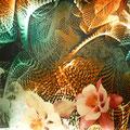 """Tissu """"fleurs et tourment"""" (léger et soilleux)"""