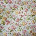 """Tissu """"Multiples fleurs"""" (coton doux et léger)"""
