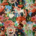 Tissu licorne et rêveries (coton imprimé)