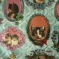 Tissu chats (coton doux imprimé)