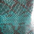 Tissu crocodile vert (tissu polyester, épais idéal pour un corset)