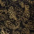 """Tissu """"arabesques dorées"""" (coton pailletté)"""