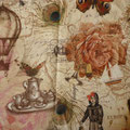 Tissu tour du monde (coton doux imprimé)