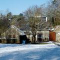 auch im Winter hat das Ferienhaus seinen Charme