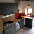 Kitchen with dish washer, oven, refrigerator, freezer, induction...