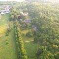 Luftaufnahme vom Domaine de Joreau, Gennes-Val de Loire