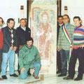 Ritiro dell'affresco di Sant'Antonio Abate il 30 ottobre 1996.