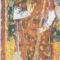 Sant'Antonio Abate benedicente, affresco esposto nella Sala Consiliare.