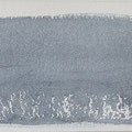 """""""Strand"""" #5, aquarel, pastel op papier / 10x30cm"""