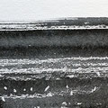 'Strand / 海辺'  #4/ 2014, Sumi(Japanse inkt) op papier, 10x30cm / Private collection in Netherlands