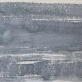 """""""Strand"""" #9, aquarel, pastel op papier / 15x30cm"""