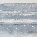 """Strand"" #14, aquarel, pastel op papier / 15x30cm / Private collection in the Netherlands"