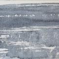 """""""Strand"""" #12, aquarel, pastel op papier / 15x30cm"""