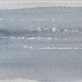 """""""Strand"""" #21, aquarel, pastel op papier / 13x40cm"""