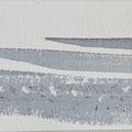 """""""Strand"""" #11, aquarel, pastel en houtskool op papier / 10x30cm"""