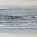 """""""Strand"""" #10, aquarel, pastel op papier / 15x30cm"""
