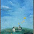 2010 M3号 心のひととき パネルに和紙、岩絵具、アクリル絵具
