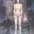 2008 F150号 女性性 パネルに高知麻紙、岩絵具、墨、アクリル絵具、
