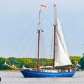 Segelschiff im Hafen von Maasholm
