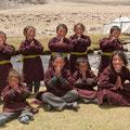 Ein Teil der Schüler der Nomadenschule